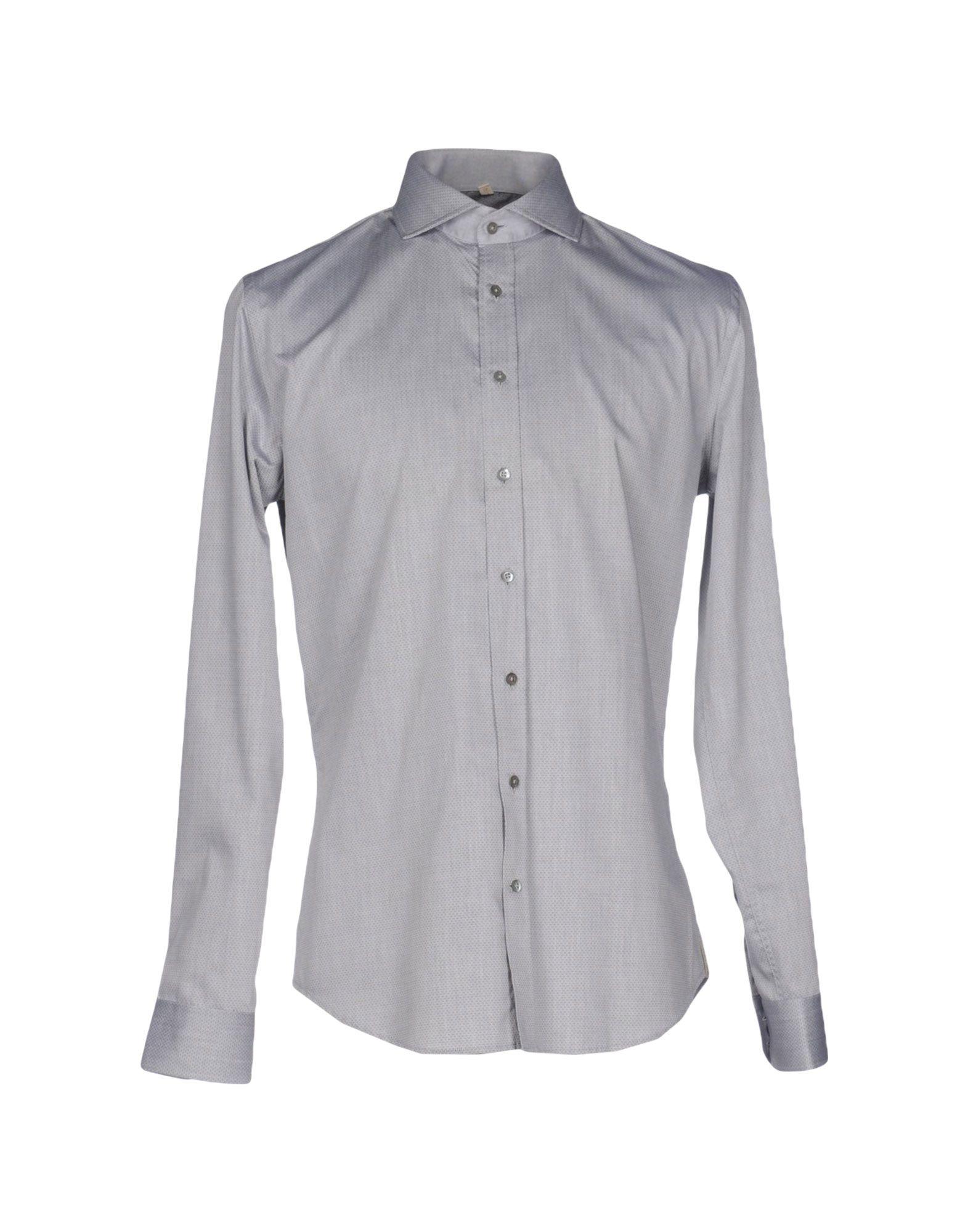 《送料無料》Q1 メンズ シャツ グレー 42 コットン 100%