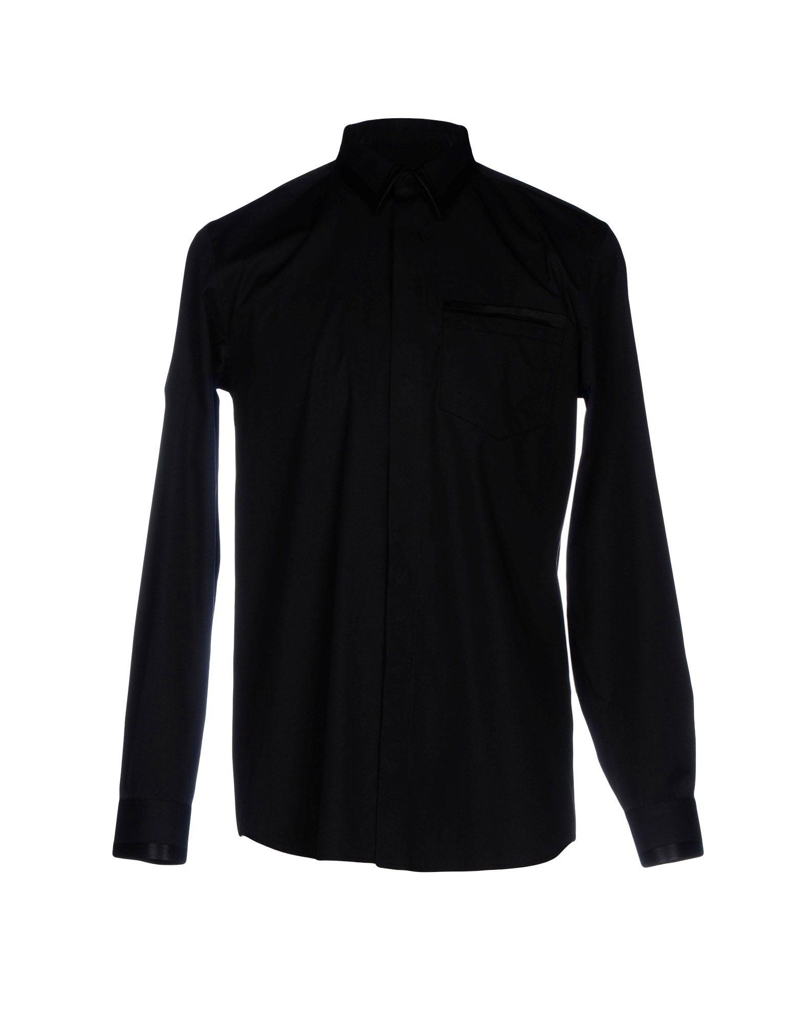 GIVENCHY Herren Hemd Farbe Schwarz Größe 5