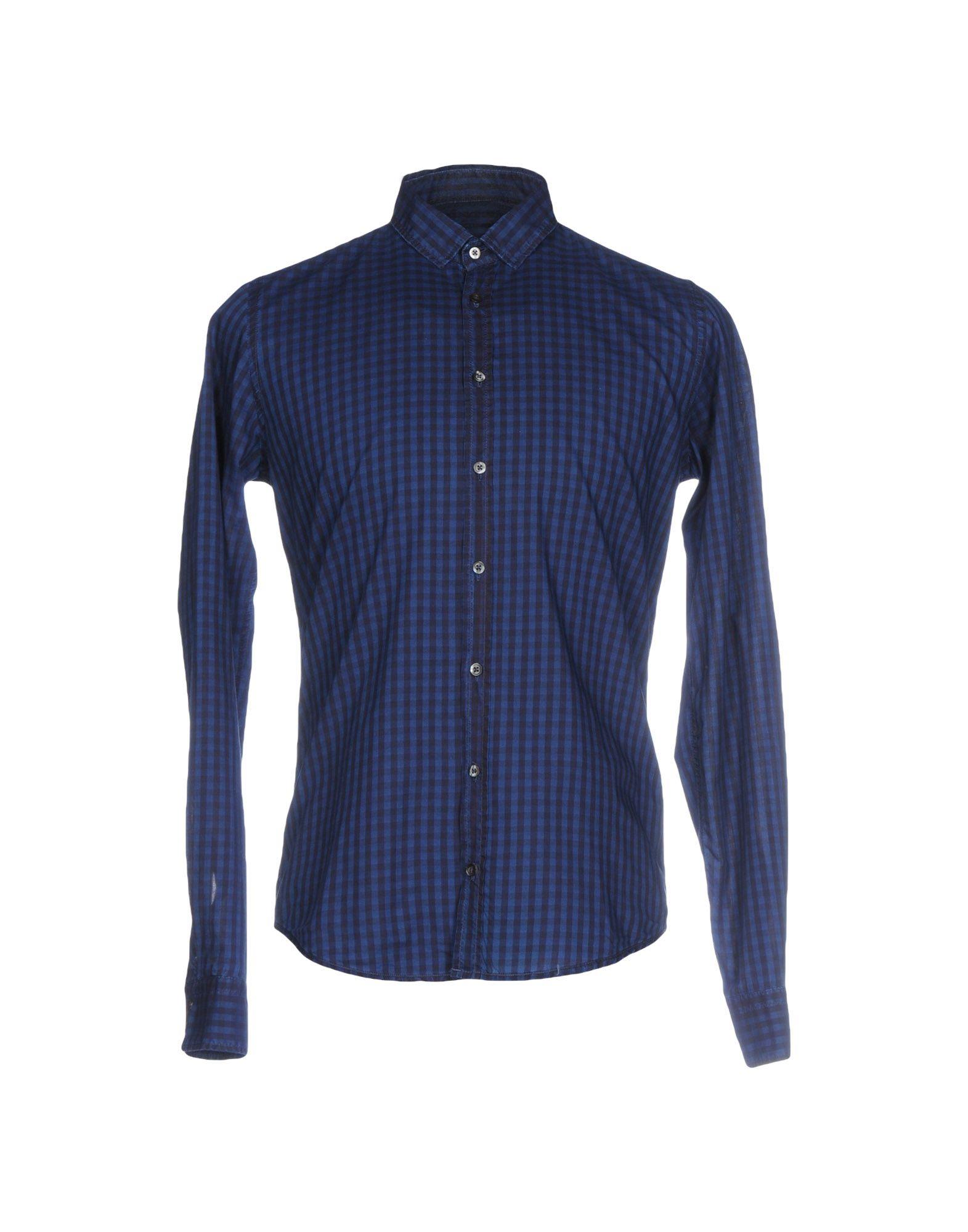 《送料無料》Q1 メンズ シャツ ブルー S コットン 100%