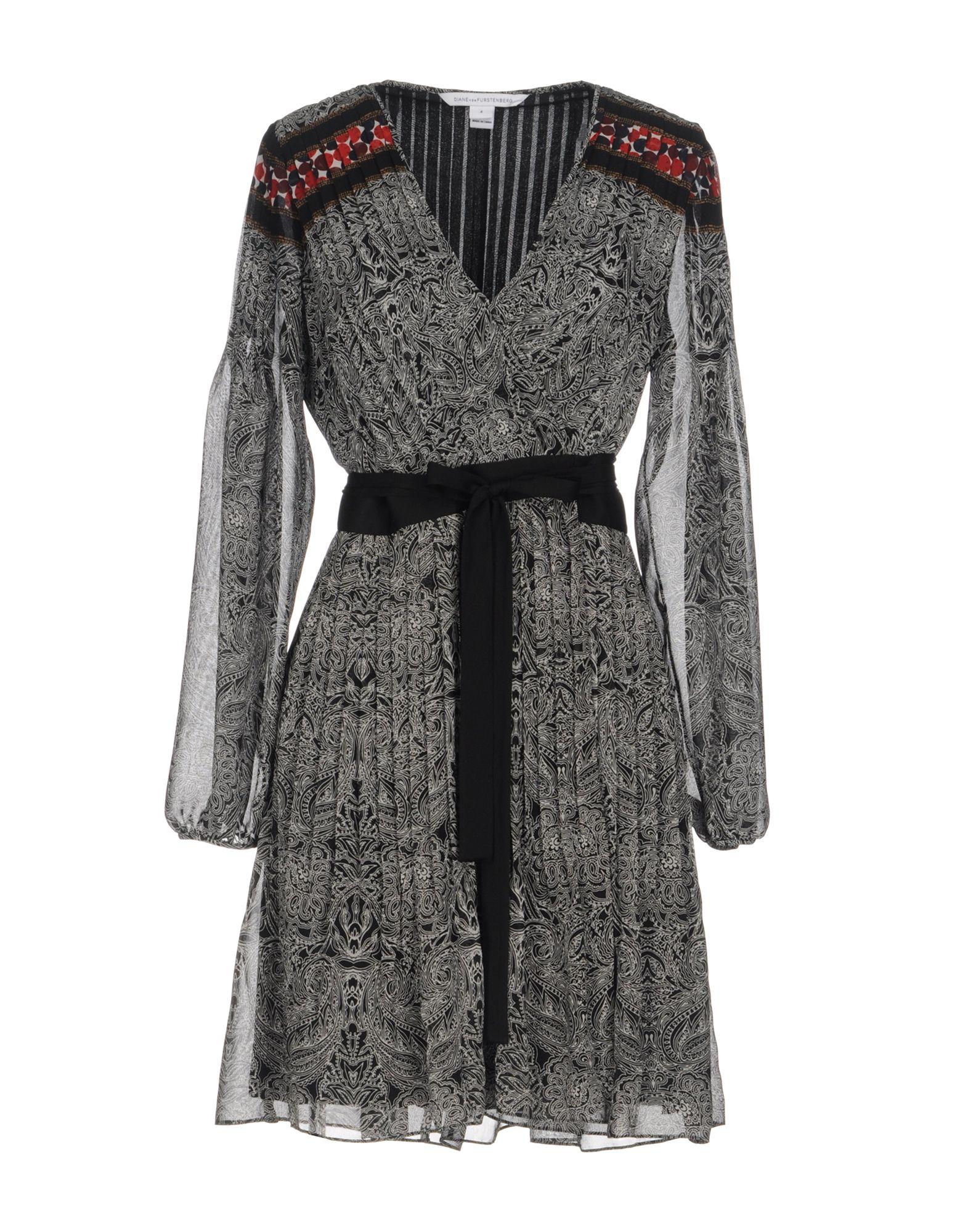 DIANE VON FURSTENBERG Короткое платье комплект постельного белья ecotex 2 х сп сатин жаккард николетта кэмниколетта