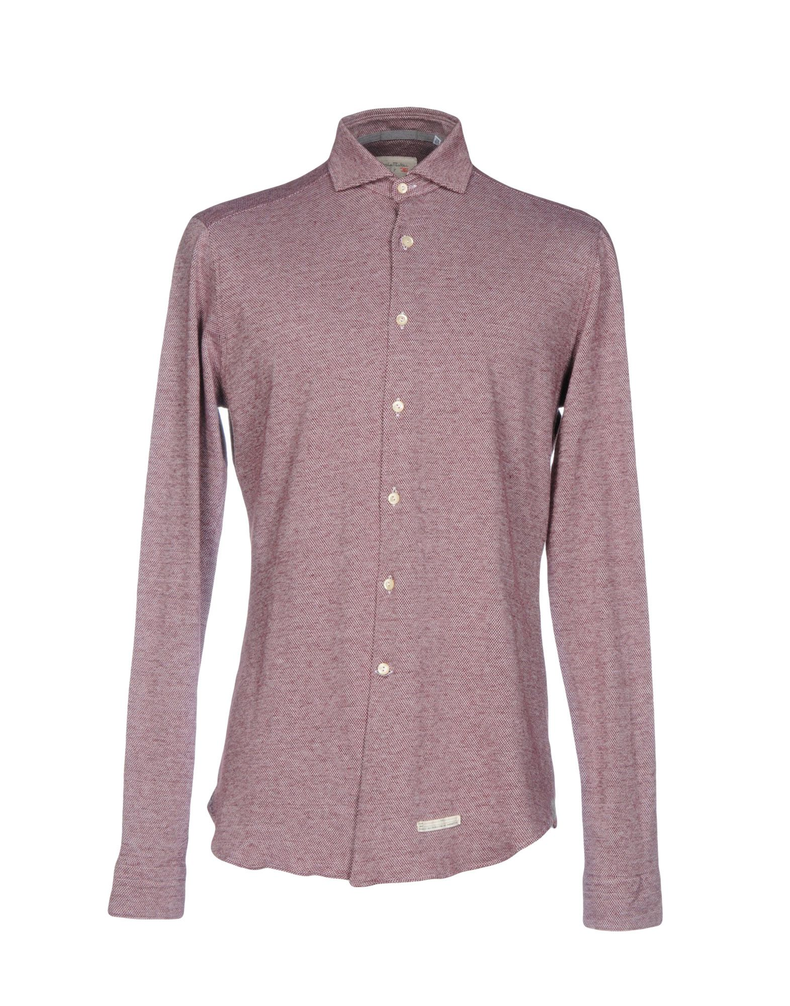 《セール開催中》TINTORIA MATTEI 954 メンズ シャツ ボルドー 41 コットン 100%