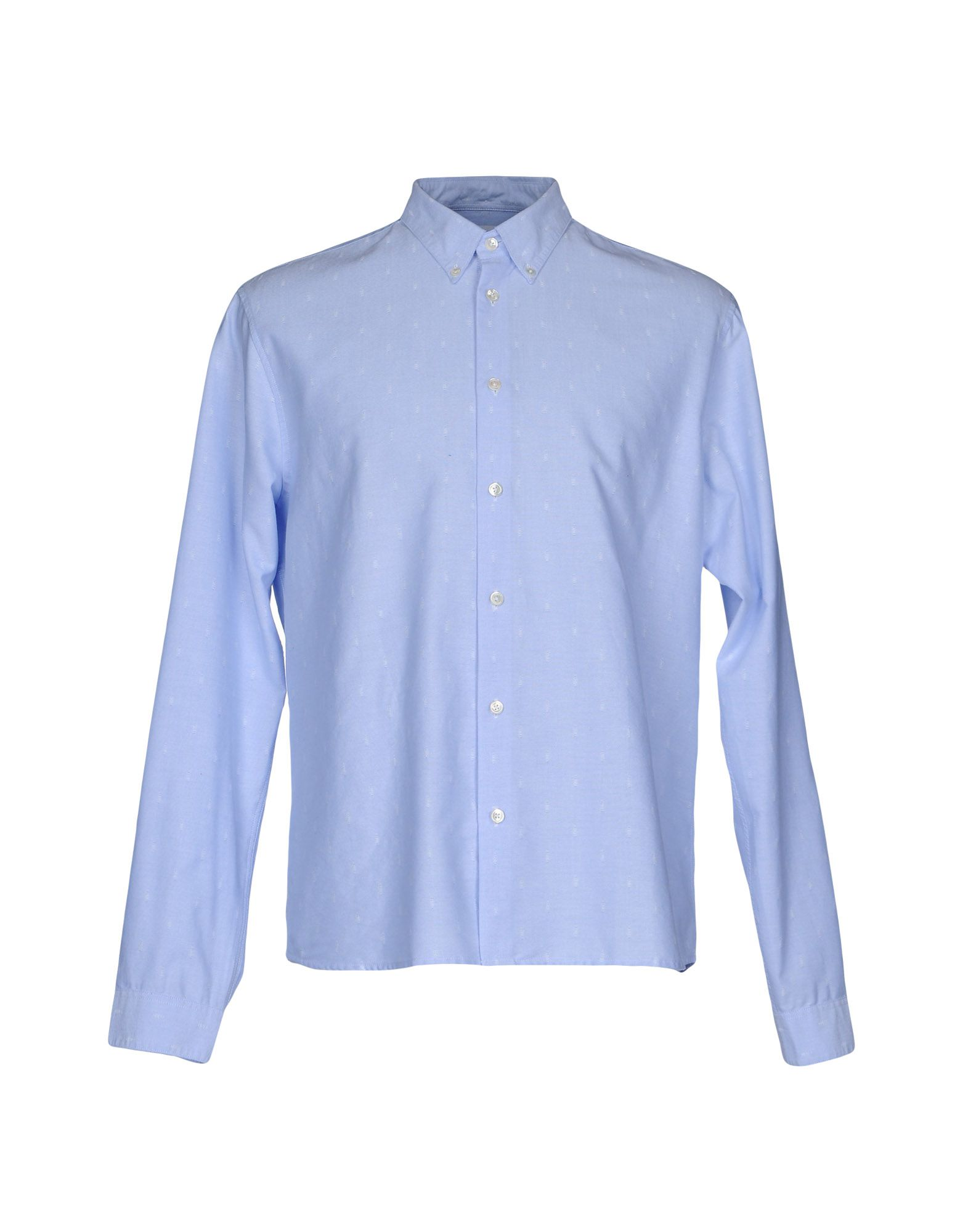 CUISSE DE GRENOUILLE Solid Color Shirt in Sky Blue