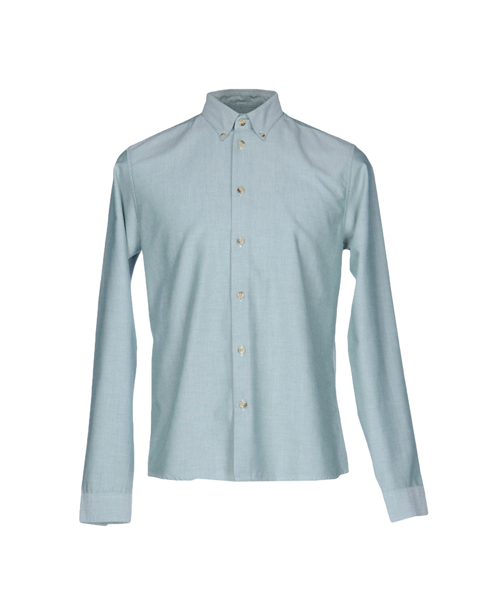 CUISSE DE GRENOUILLE Solid Color Shirt in Light Green