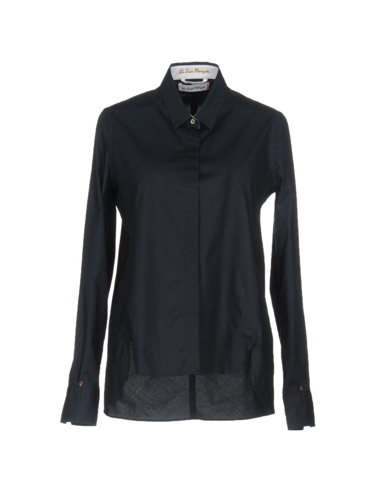 LE SARTE PETTEGOLE Damen Hemd Farbe Dunkelblau Größe 7