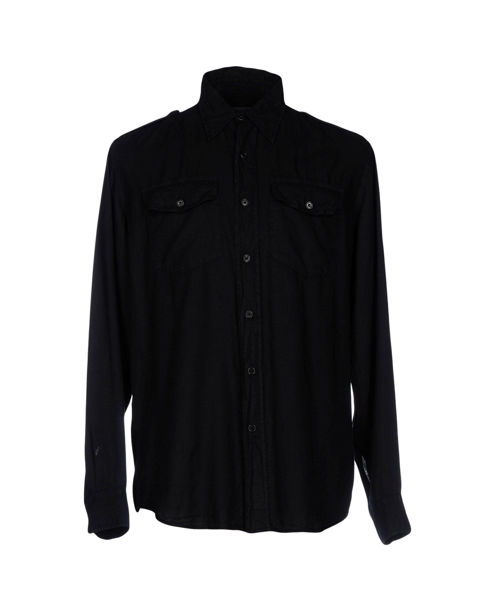 DRIES VAN NOTEN Herren Hemd Farbe Schwarz Größe 5