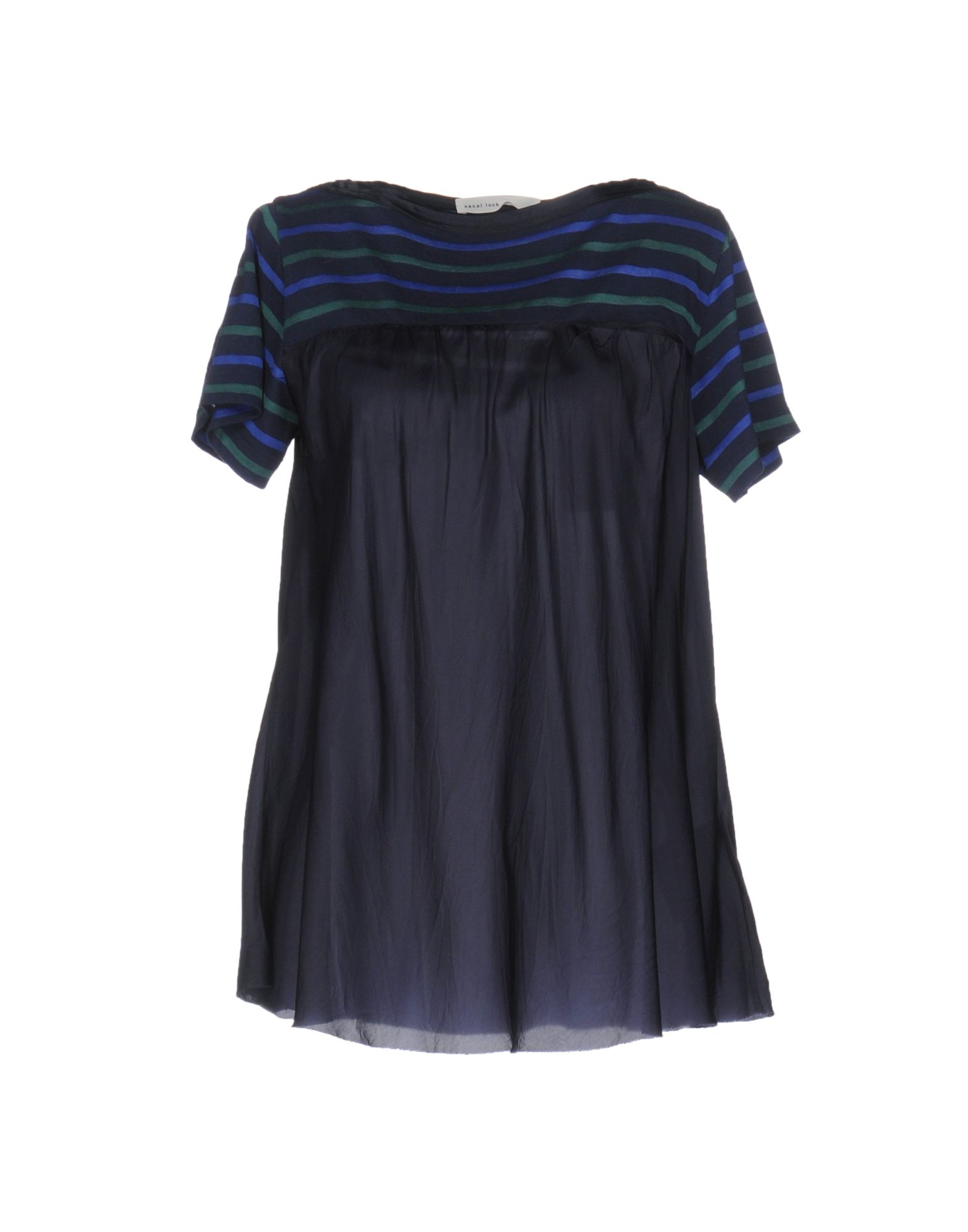 SACAI LUCK Damen Bluse Farbe Dunkelblau Größe 4 - broschei