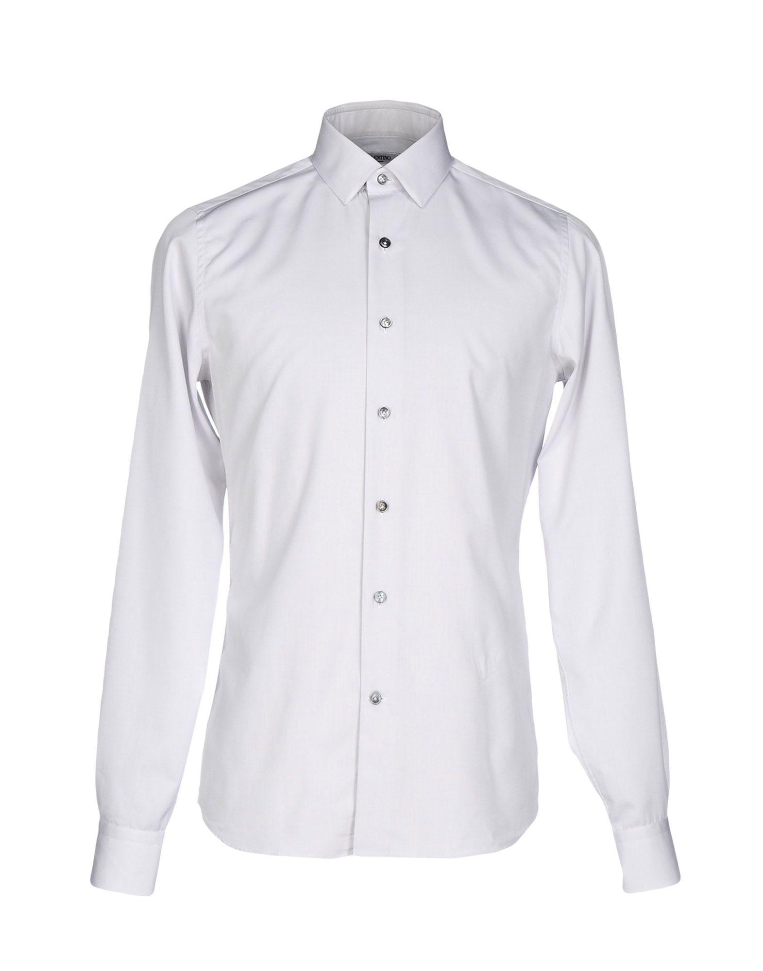VALENTINO Herren Hemd Farbe Hellgrau Größe 9