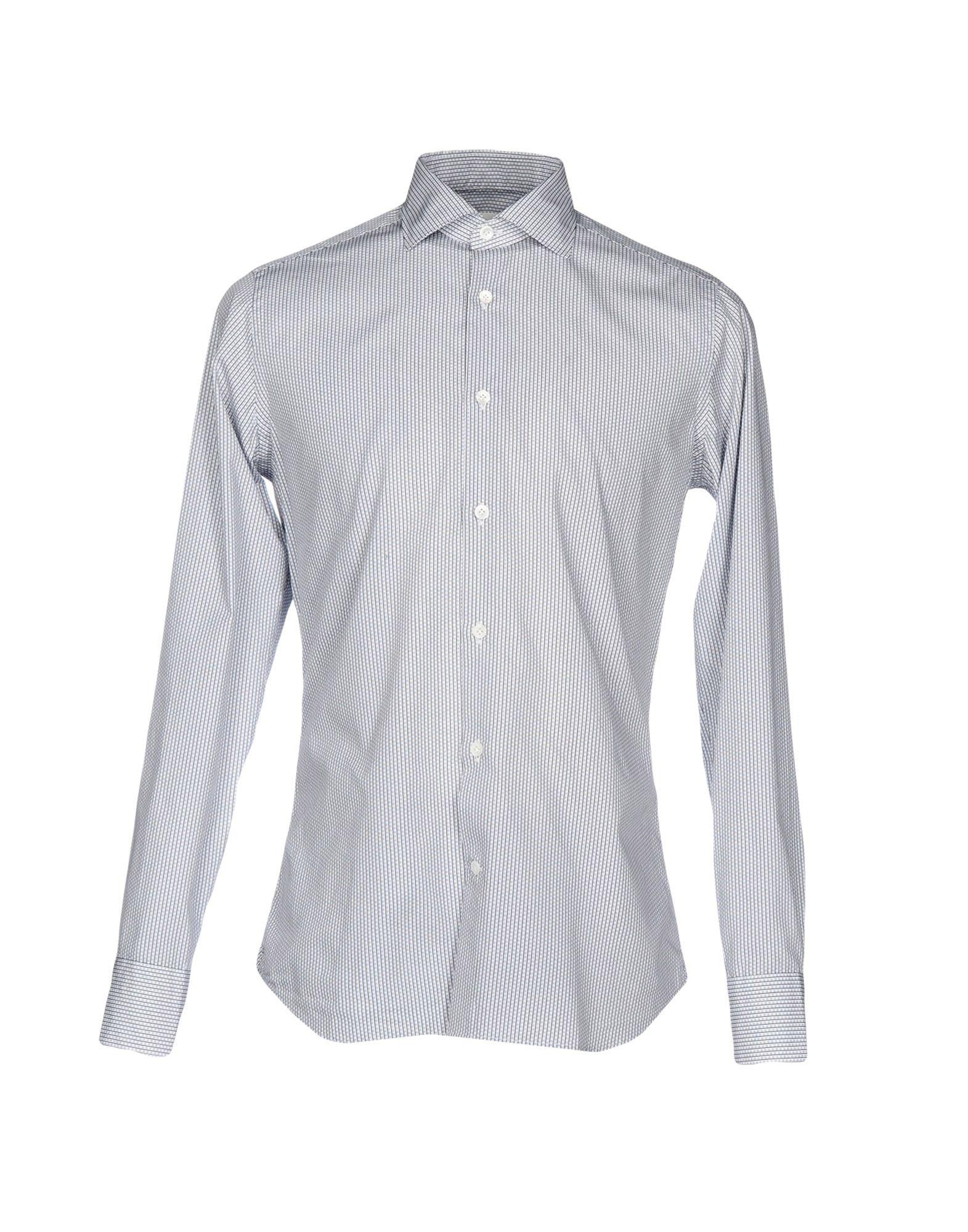 GUGLIELMINOTTI Herren Hemd Farbe Blau Größe 8 - broschei
