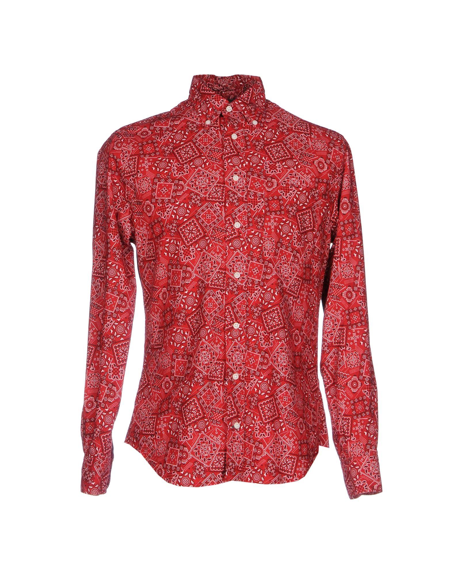 GITMAN BROS. Vintage Herren Hemd Farbe Rot Größe 5