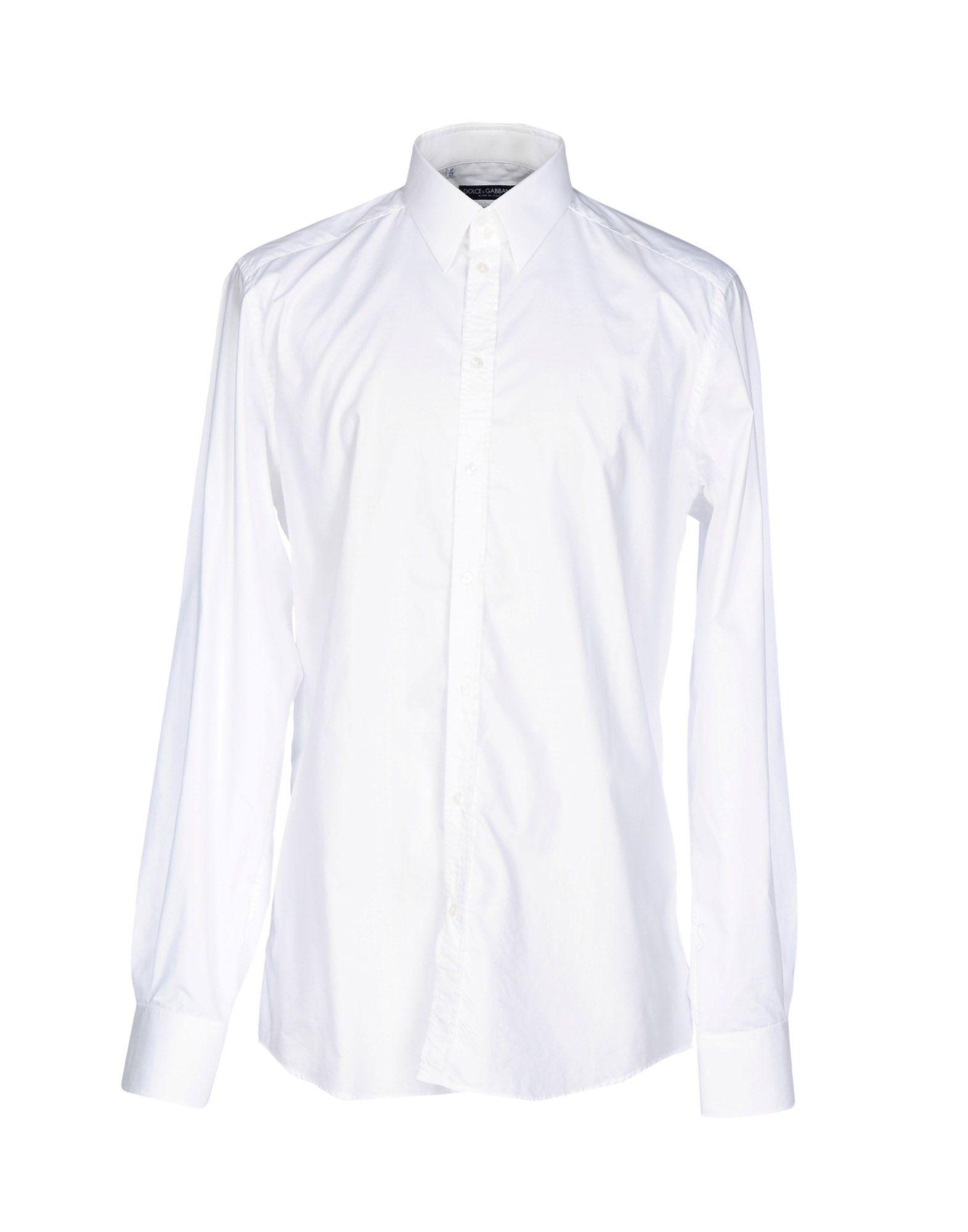 DOLCE & GABBANA Herren Hemd Farbe Weiß Größe 8
