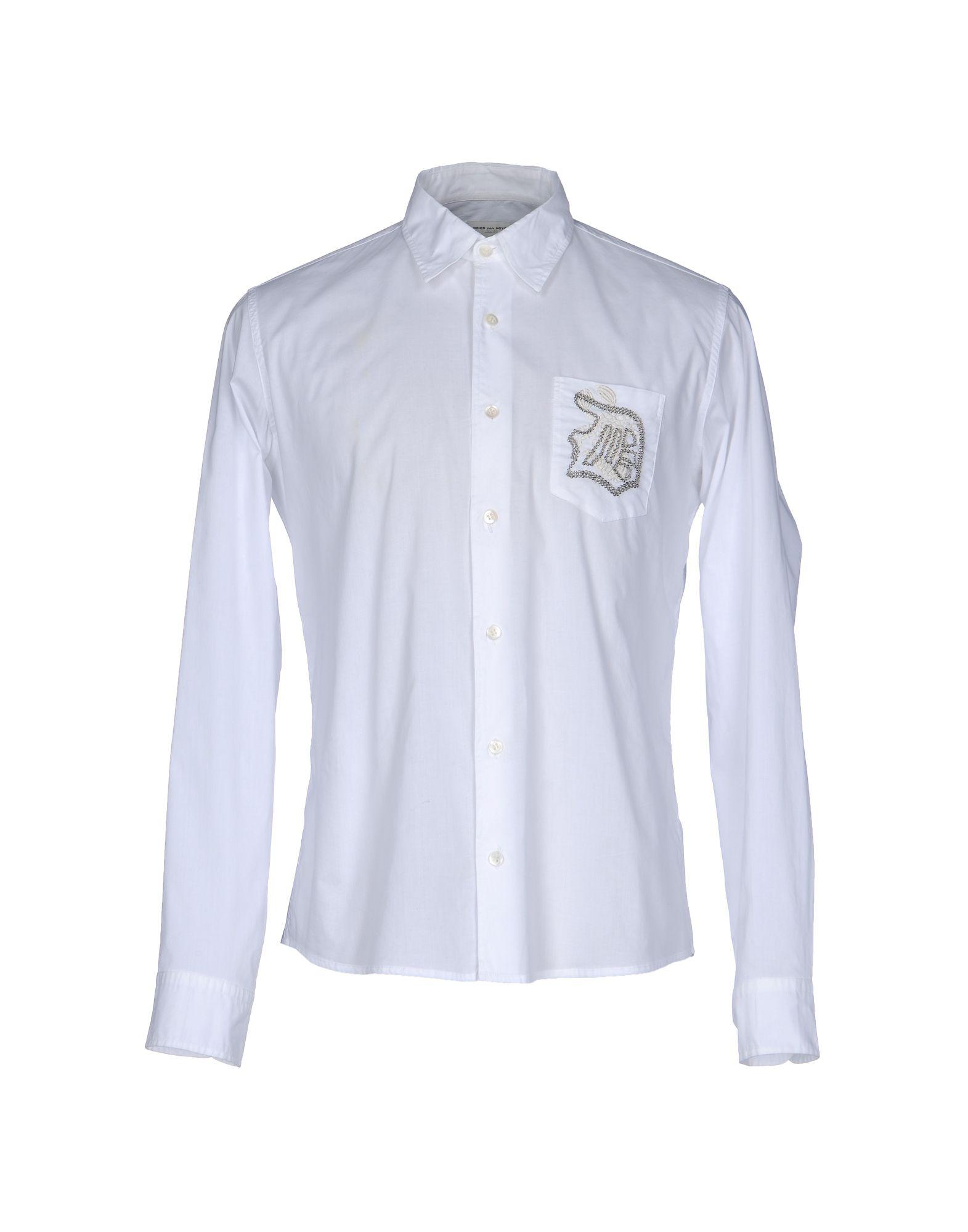 DRIES VAN NOTEN Herren Hemd Farbe Weiß Größe 4