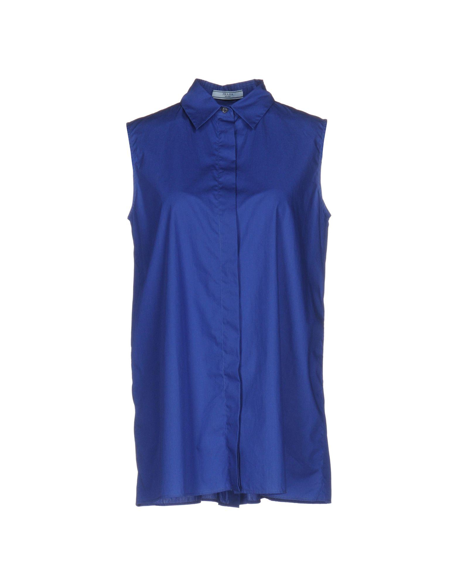 PRADA Damen Hemd Farbe Blau Größe 3