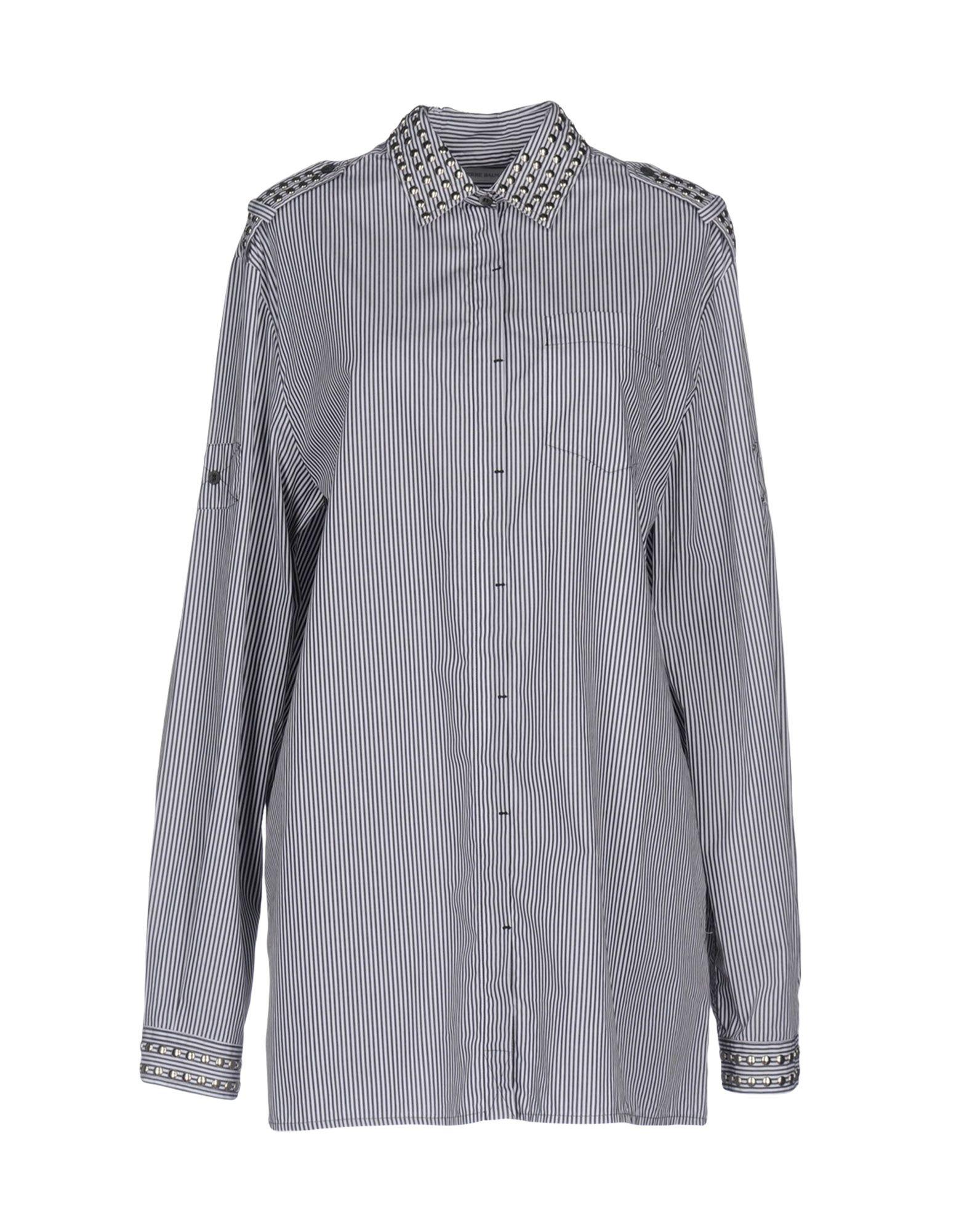 PIERRE BALMAIN Damen Hemd Farbe Schwarz Größe 6