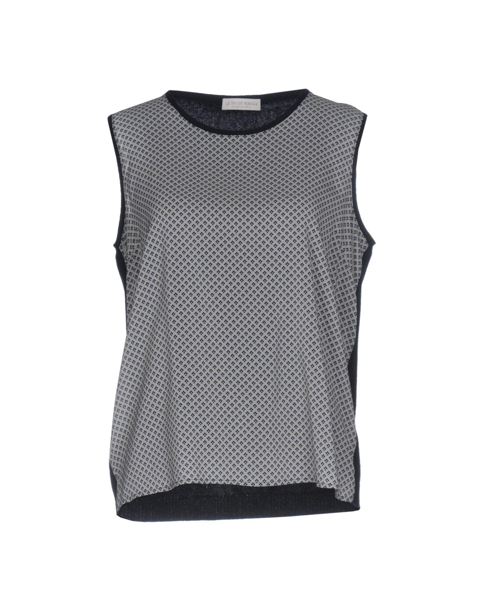 LE TRICOT PERUGIA Damen Pullover Farbe Grau Größe 5 - broschei