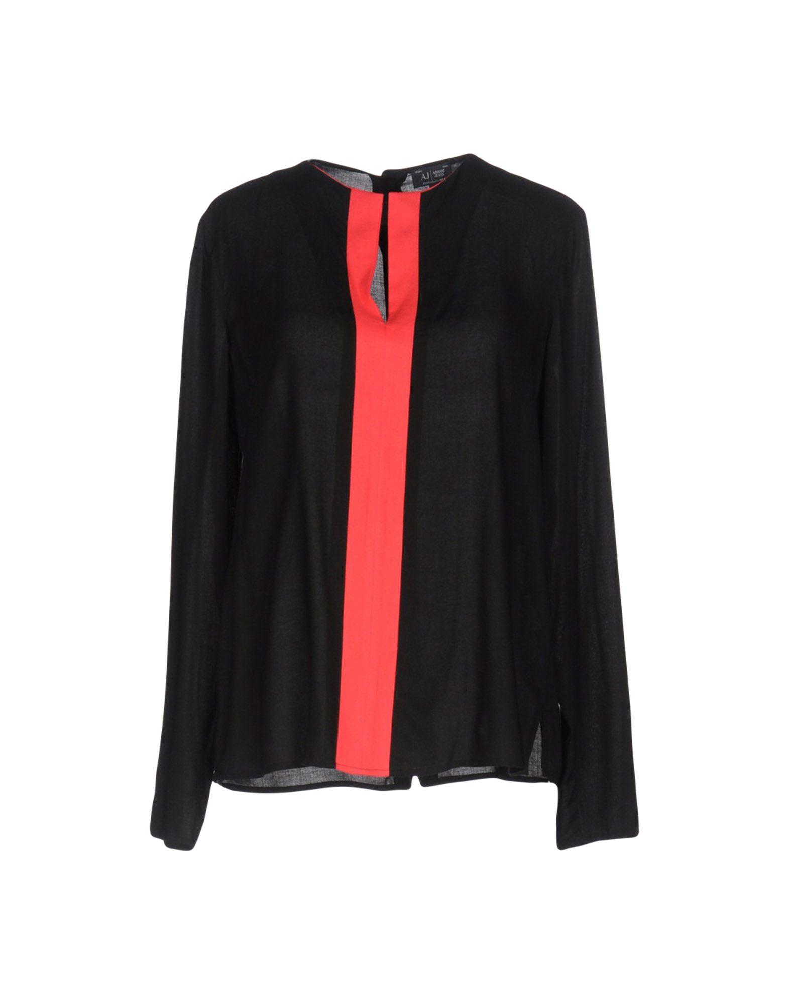 ARMANI JEANS Damen Bluse Farbe Schwarz Größe 3
