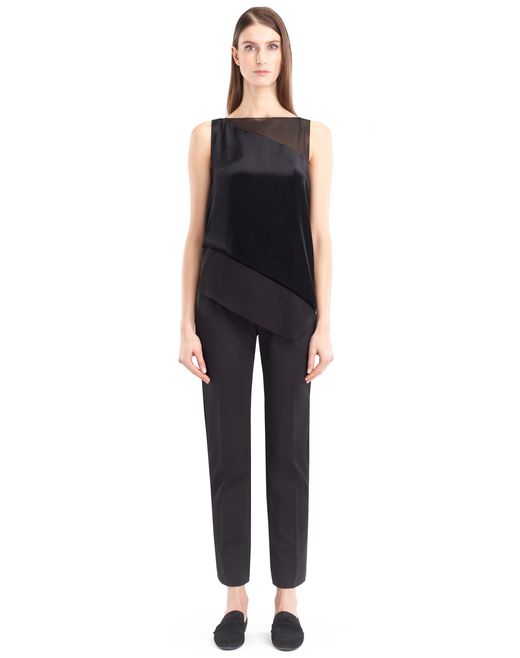 lanvin panne velvet top women