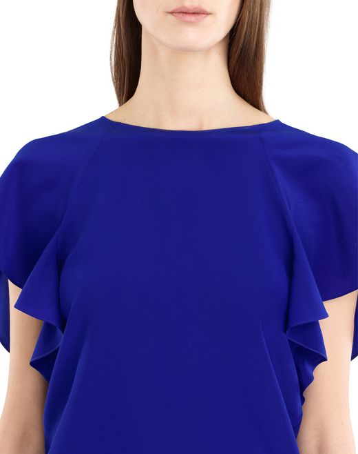 lanvin silk crepe de chine top women
