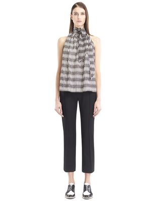 "LANVIN Top D ""BOIS JOLI"" SILK GEORGETTE TOP F"
