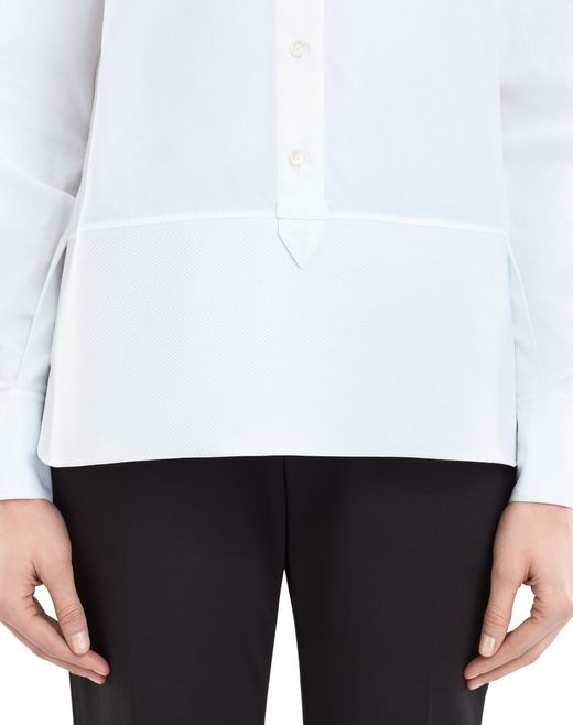 lanvin english poplin blouse women