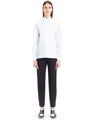 LANVIN ENGLISH POPLIN BLOUSE Top D f
