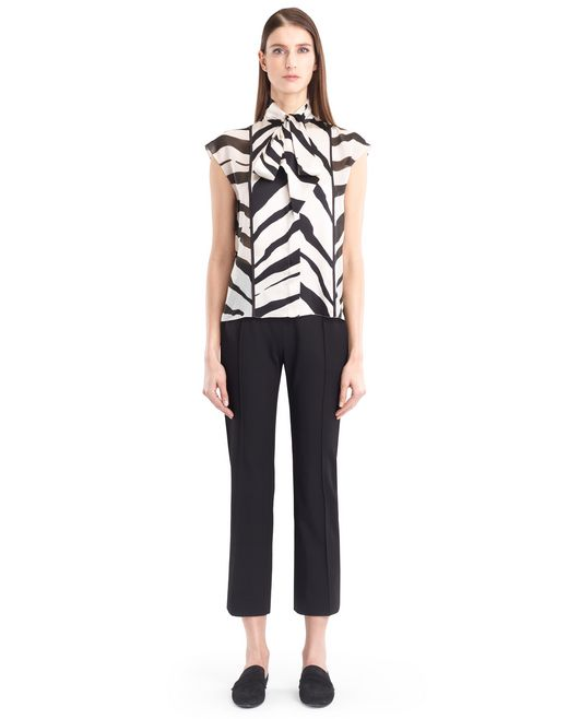 lanvin graphic silk georgette blouse women