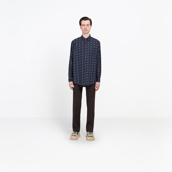 Camicia con logo taglio classico