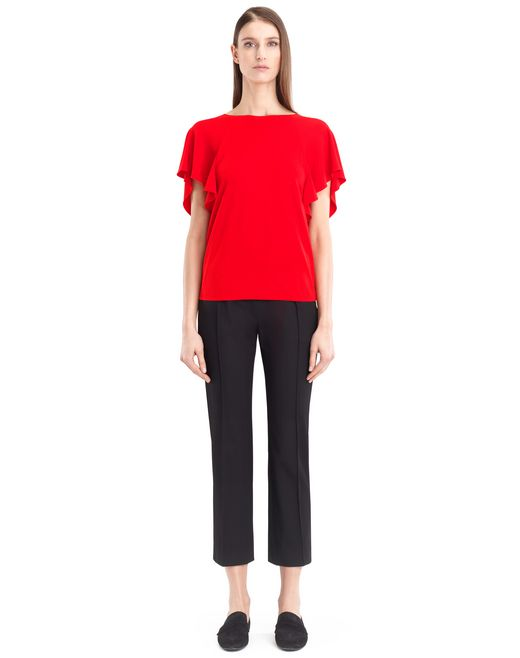 lanvin crepe jersey top women
