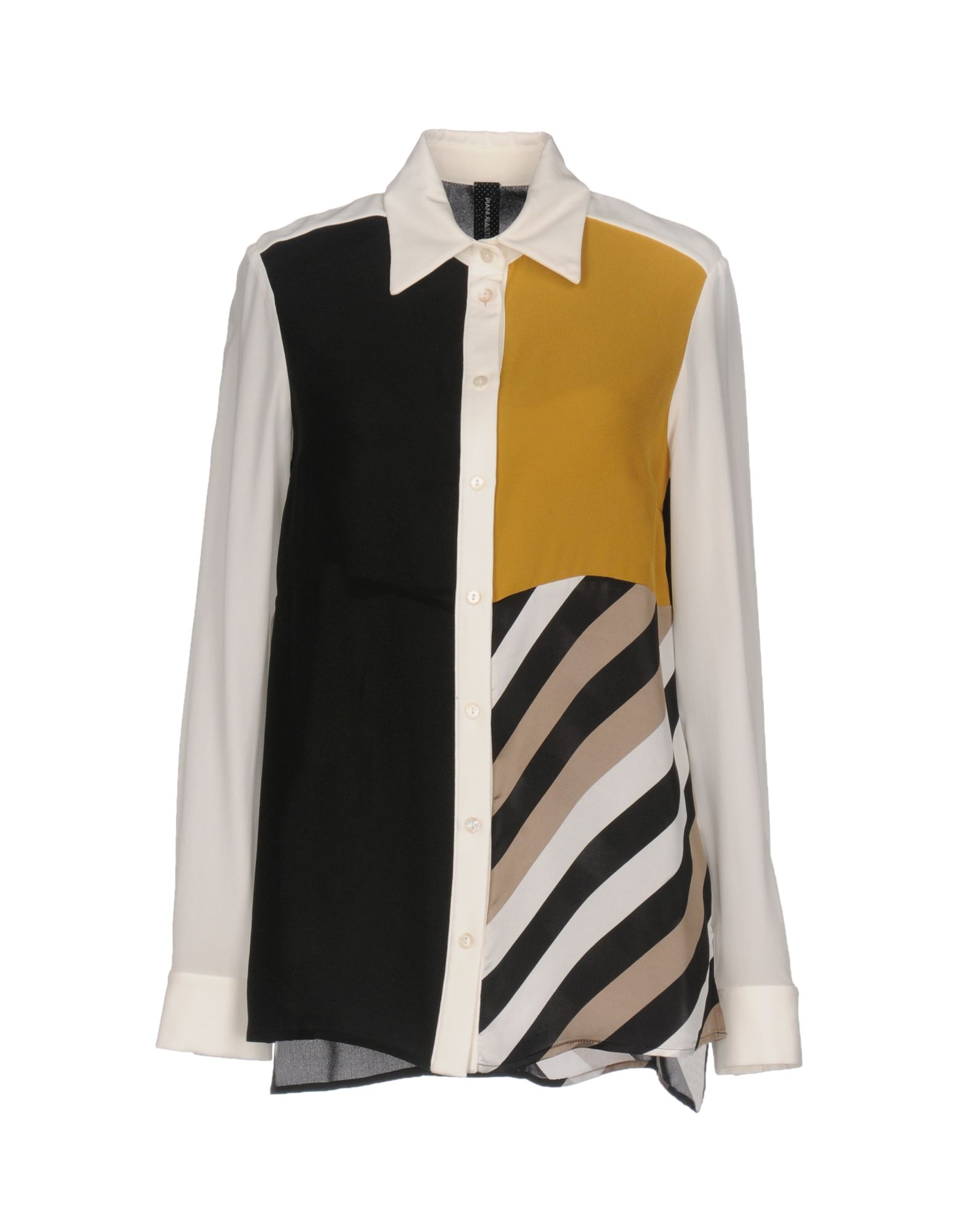 《セール開催中》PIANURASTUDIO レディース シャツ ホワイト 42 シルク 100%