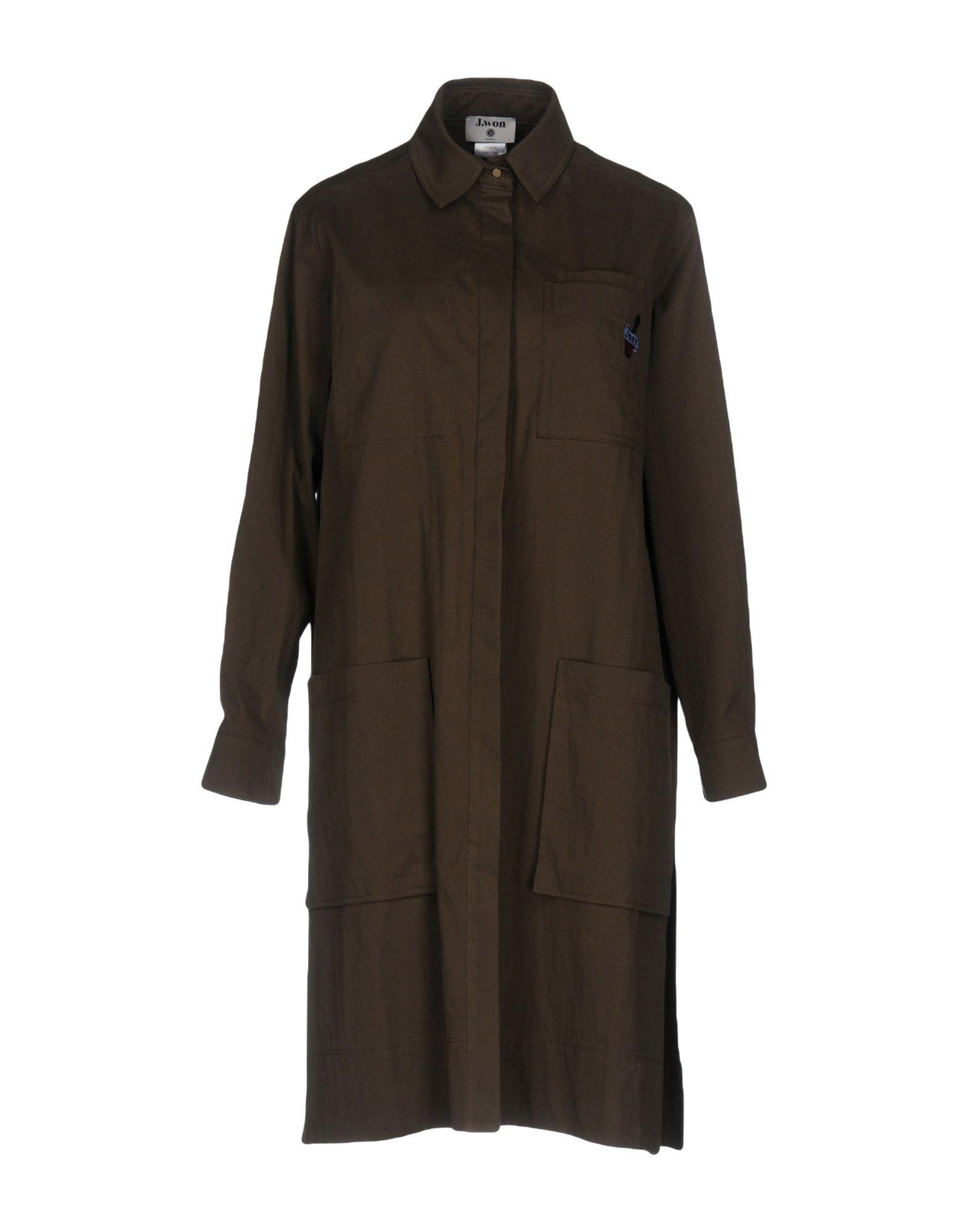 J.WON Full-Length Jacket in Military Green