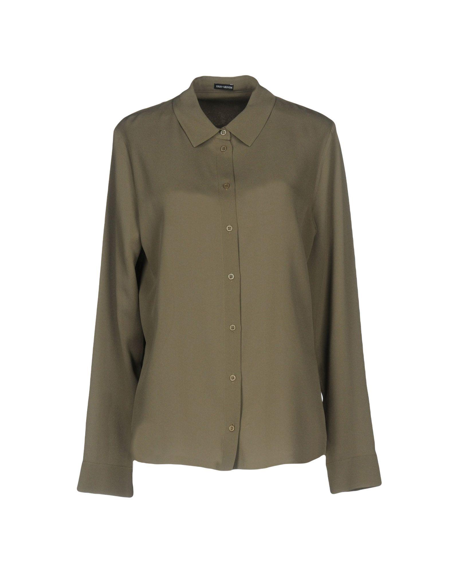 IRIS VAN HERPEN Silk Shirts & Blouses in Grey