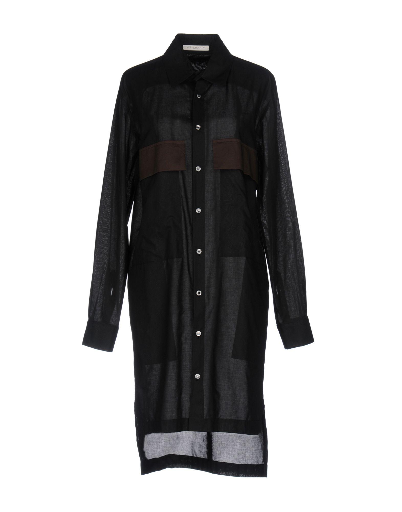 《送料無料》LUCIO VANOTTI レディース シャツ ブラック 2 コットン 100%