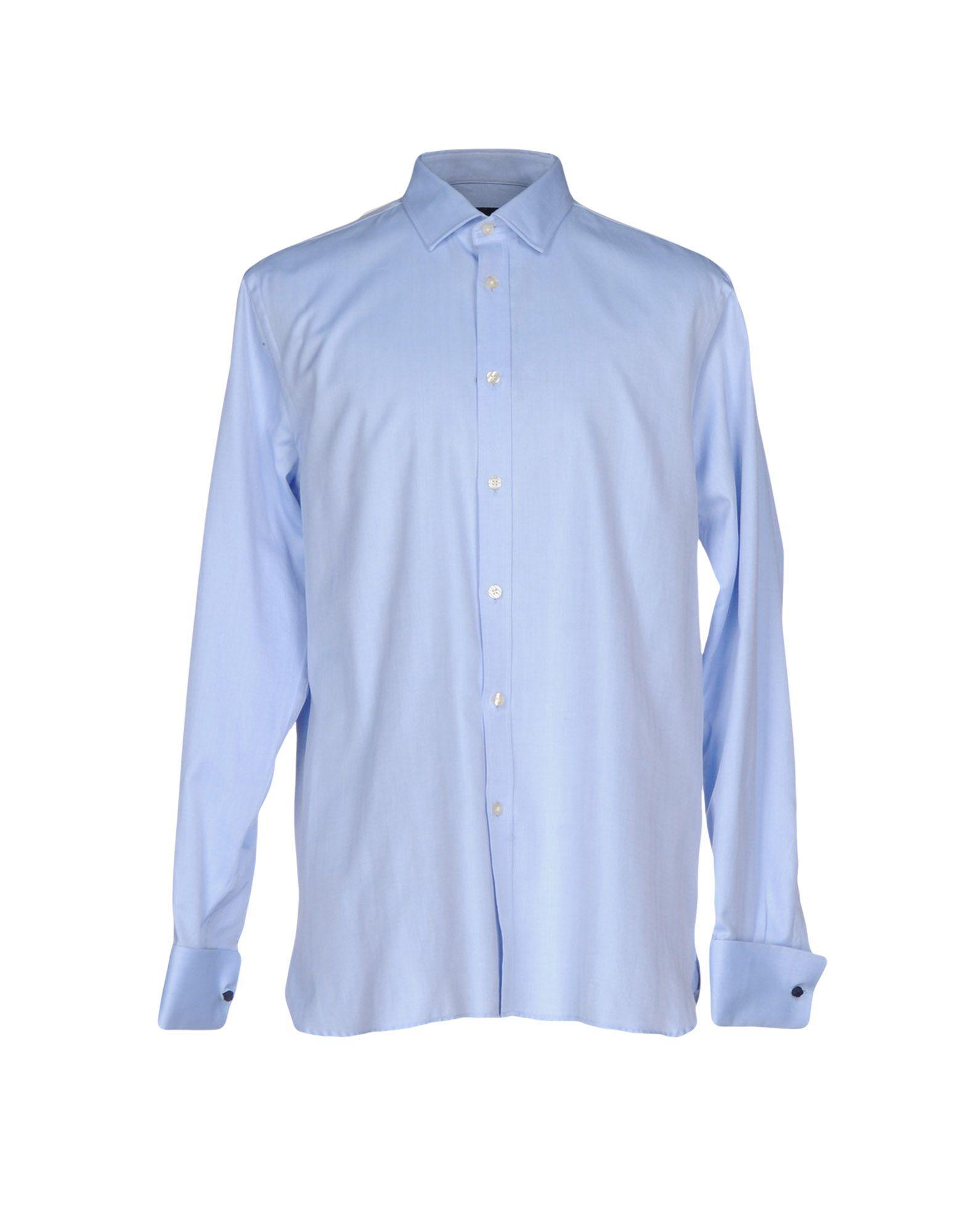 《2万円以上オーダーで送料無料》AQUASCUTUM メンズ シャツ ブルー 43 コットン 100%