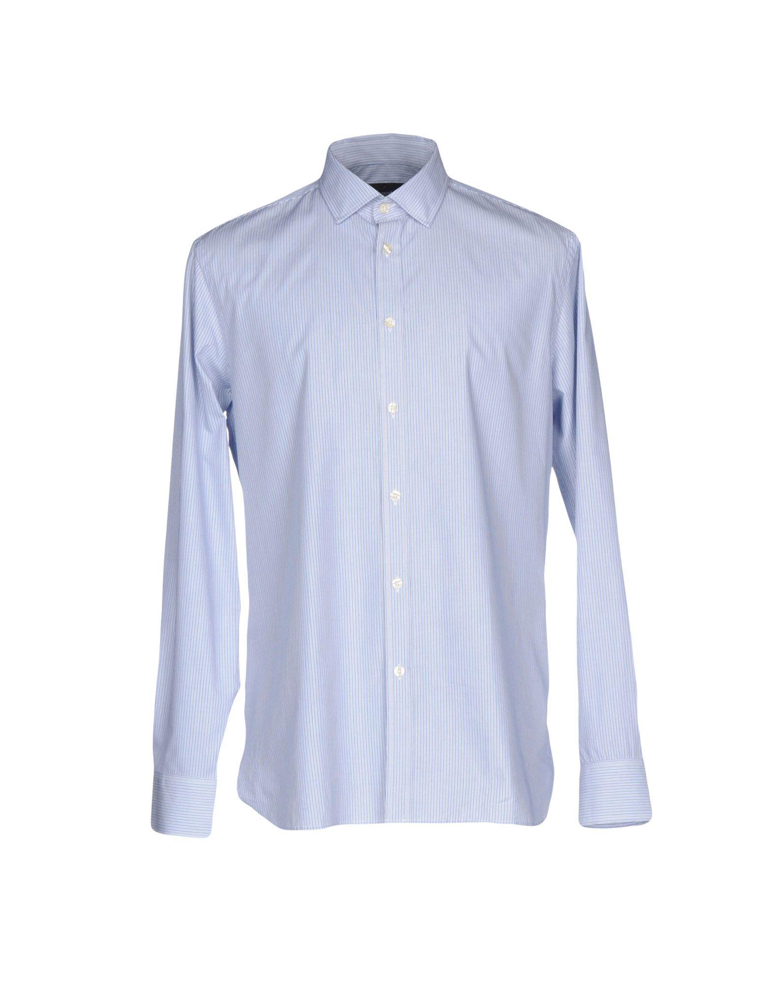 《2万円以上オーダーで送料無料》AQUASCUTUM メンズ シャツ ブルー 39 コットン 100%