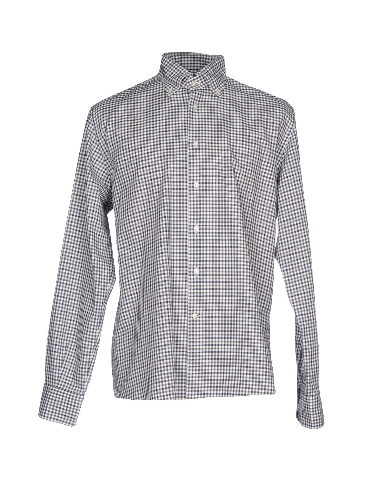 《送料無料》DEL SIENA メンズ シャツ ブラック 44 コットン 100%