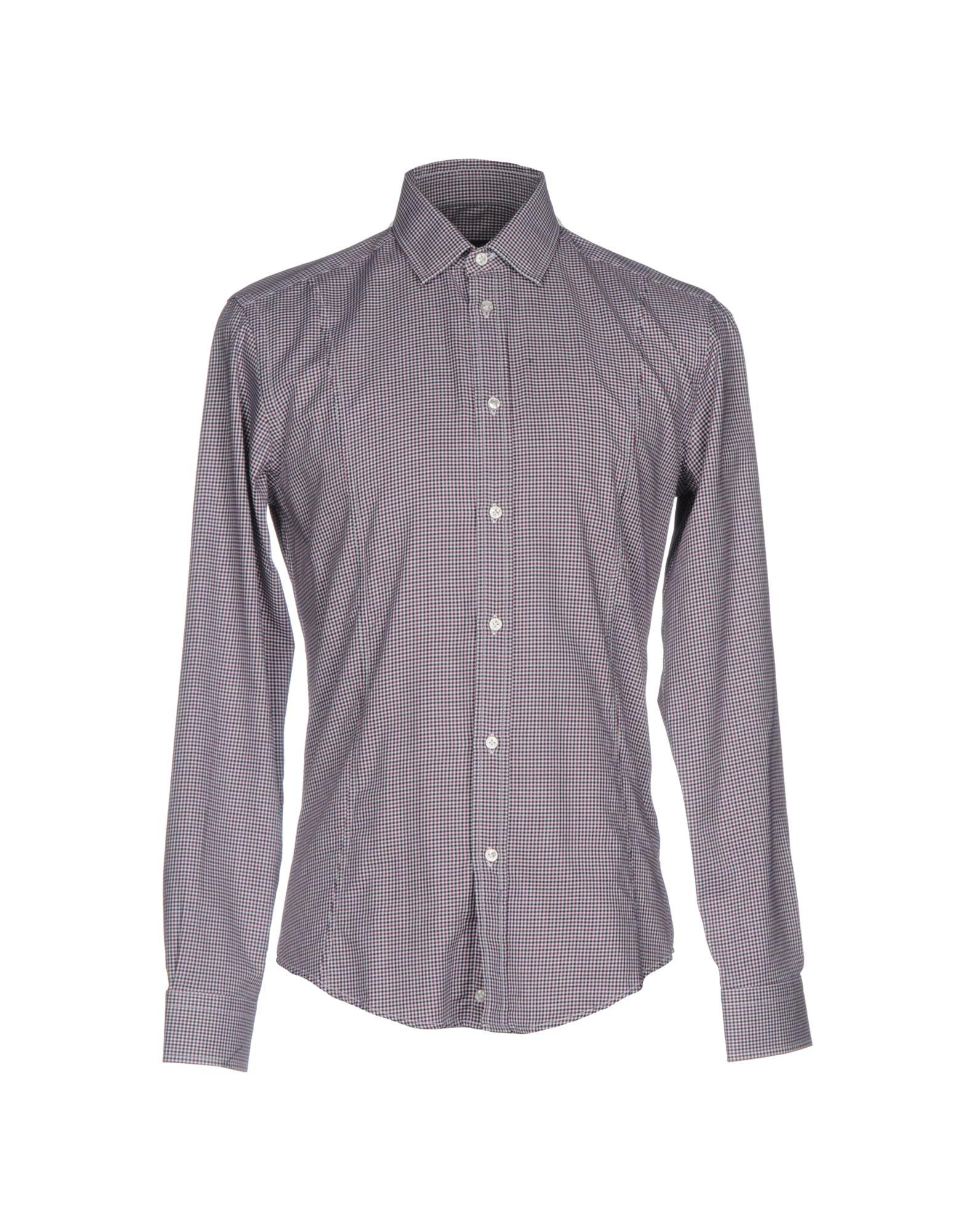 《送料無料》BRIAN DALES メンズ シャツ ボルドー 39 コットン 100%