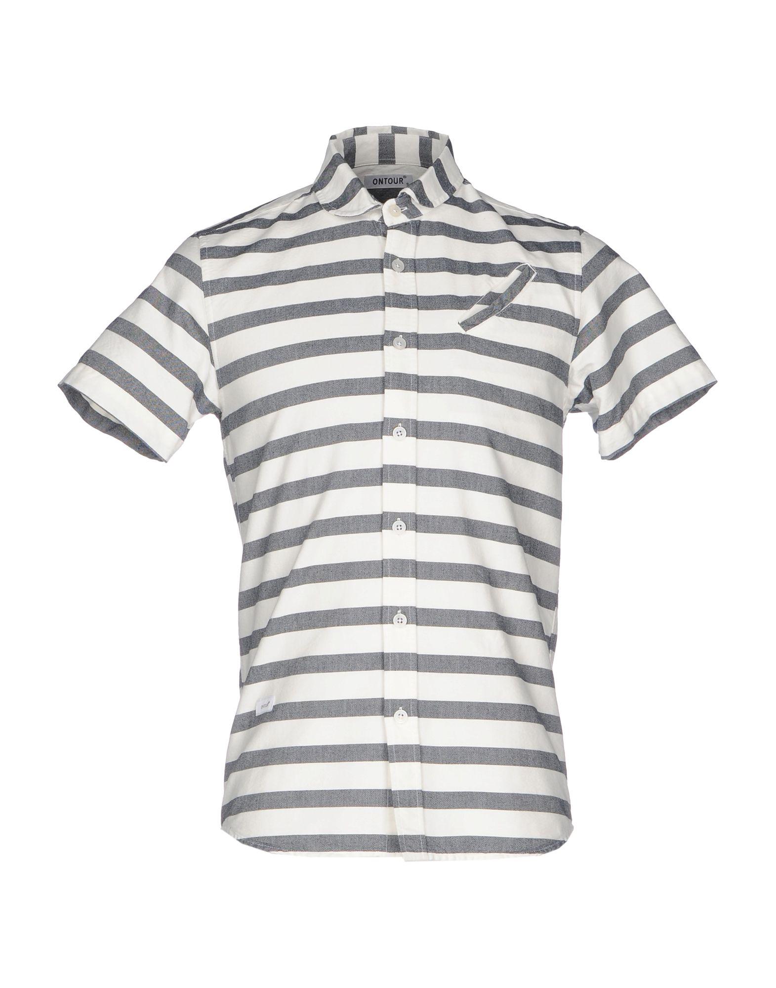 《送料無料》ONTOUR メンズ シャツ アイボリー S コットン 100%