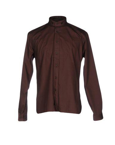 Фото - Pубашка темно-коричневого цвета