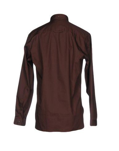 Фото 2 - Pубашка темно-коричневого цвета