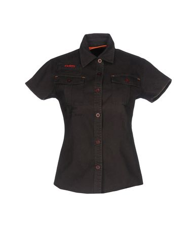 SUPERDRY Damen Hemd Granitgrau Größe XS 100% Baumwolle