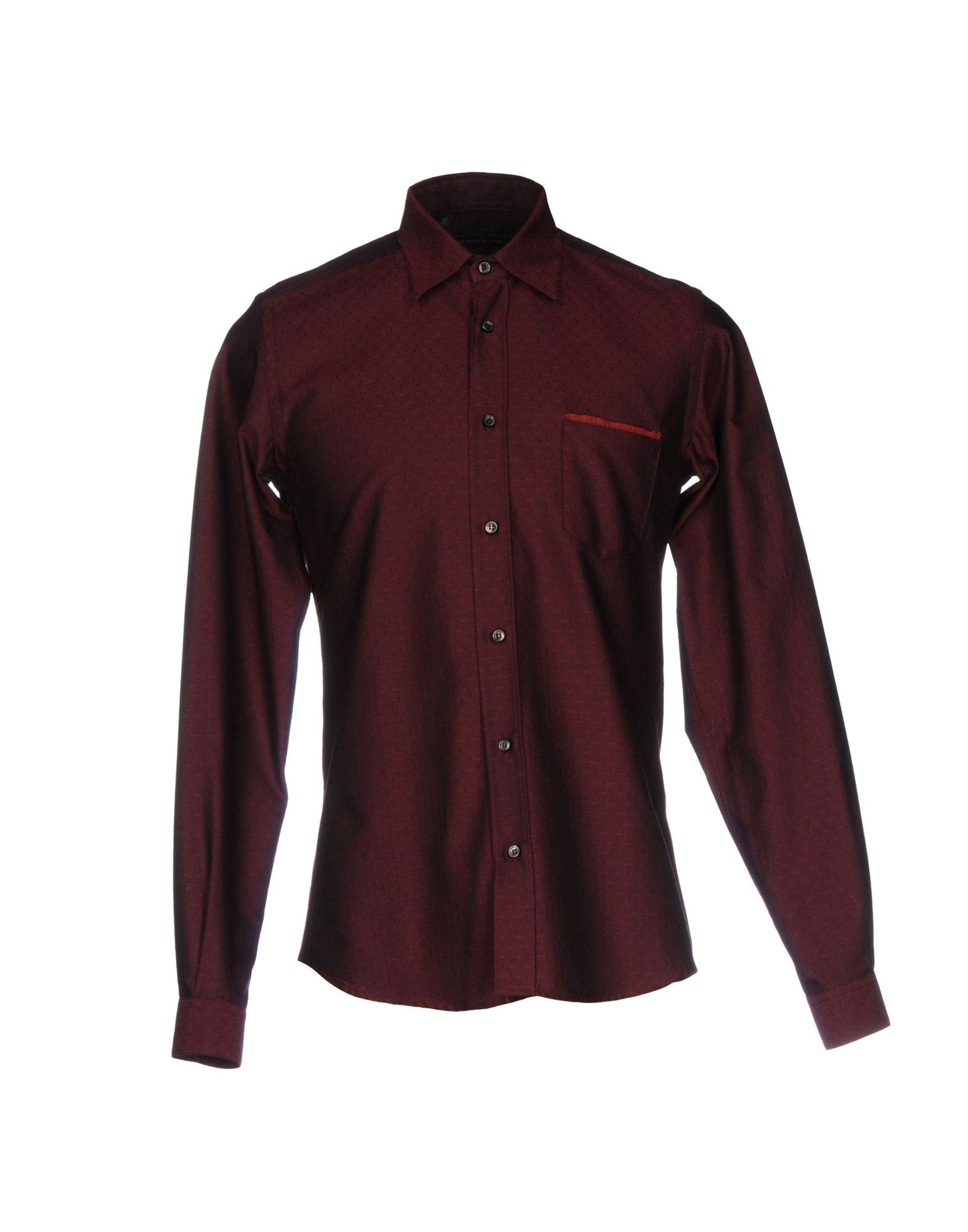 《セール開催中》ALESSANDRO DELL'ACQUA メンズ シャツ ボルドー 40 コットン 100%