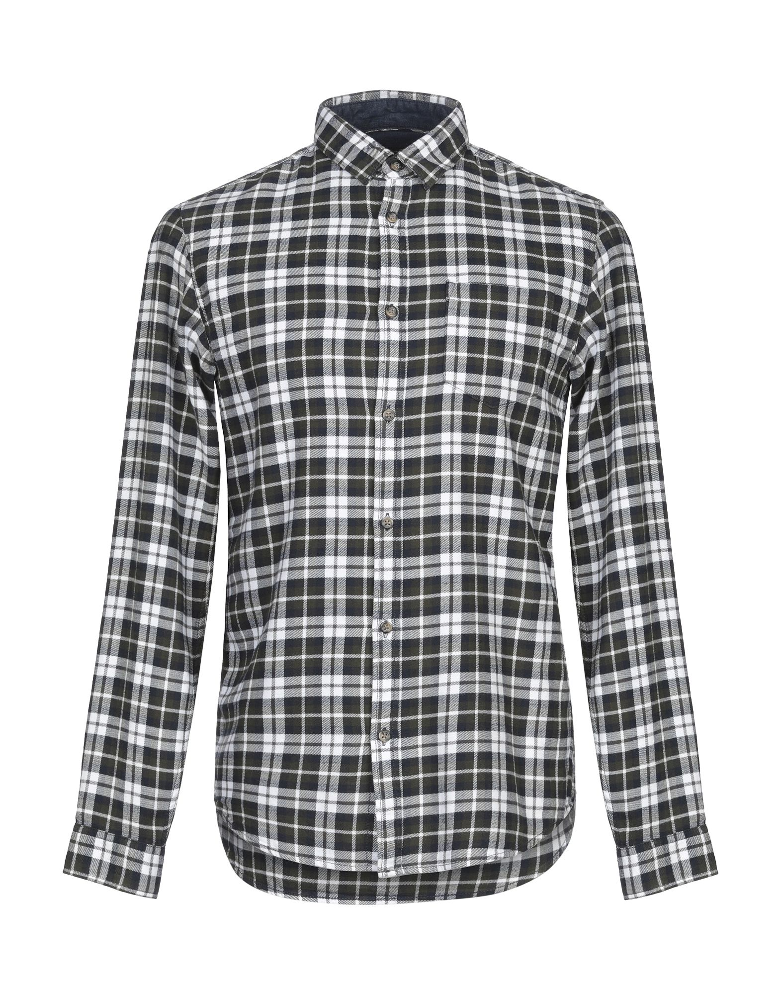 《送料無料》JACK & JONES ORIGINALS メンズ シャツ ダークグリーン S コットン 100%