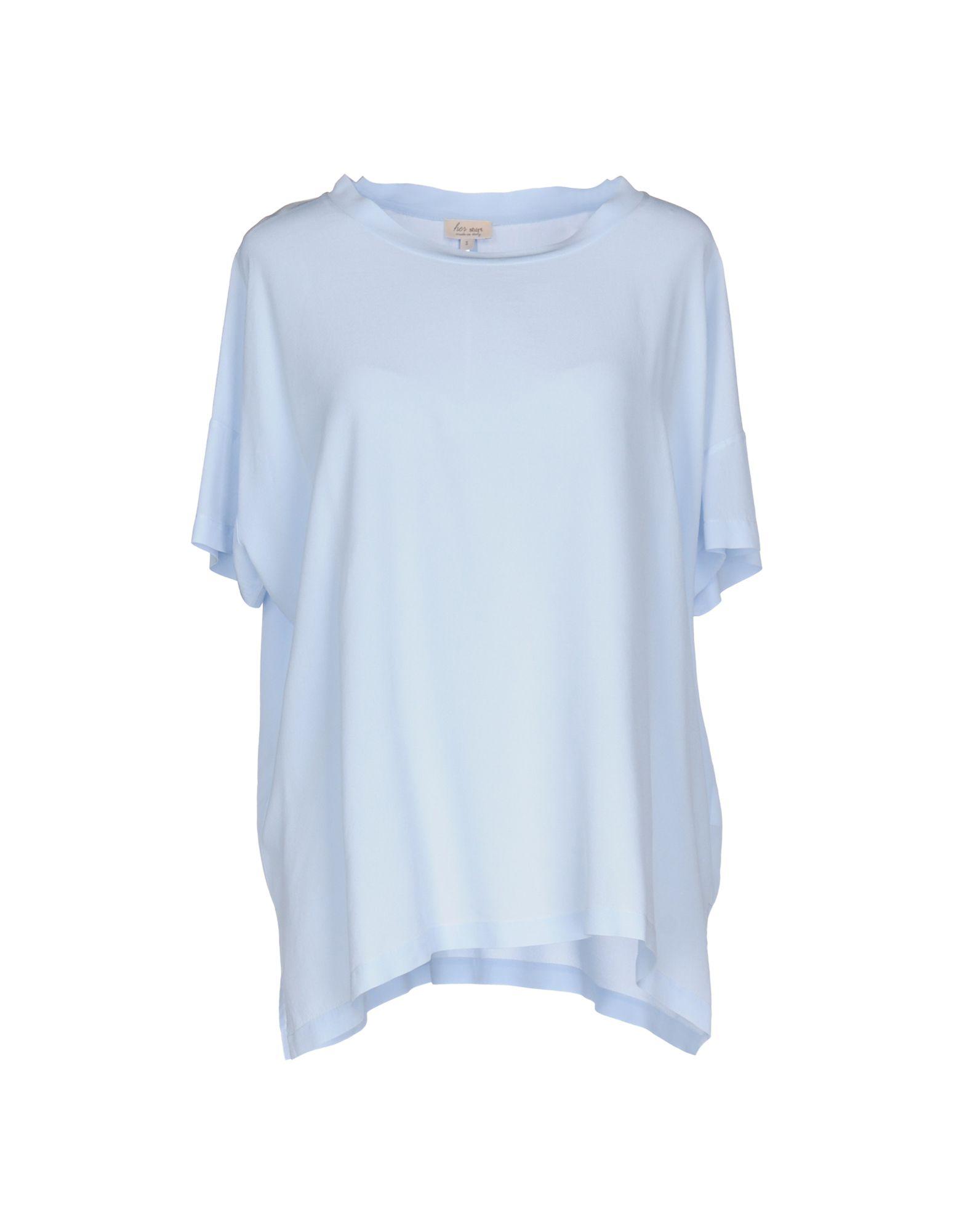 HER SHIRT Damen Bluse Farbe Himmelblau Größe 4