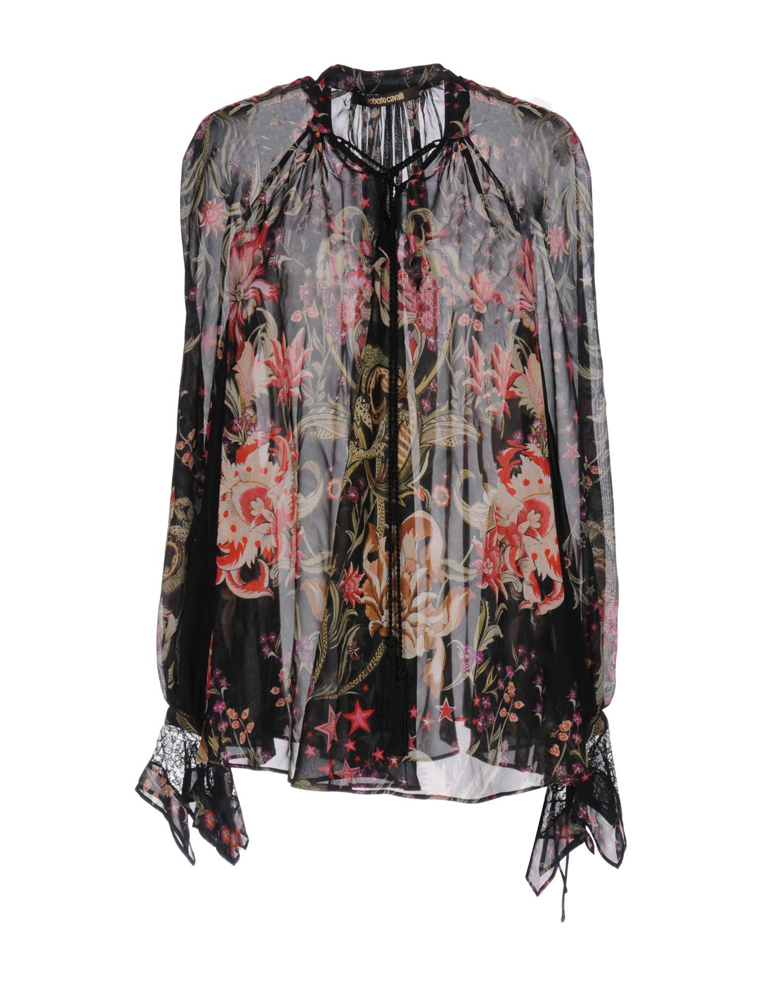 ROBERTO CAVALLI Блузка roberto cavalli расклешенная блузка с прозрачной панелью