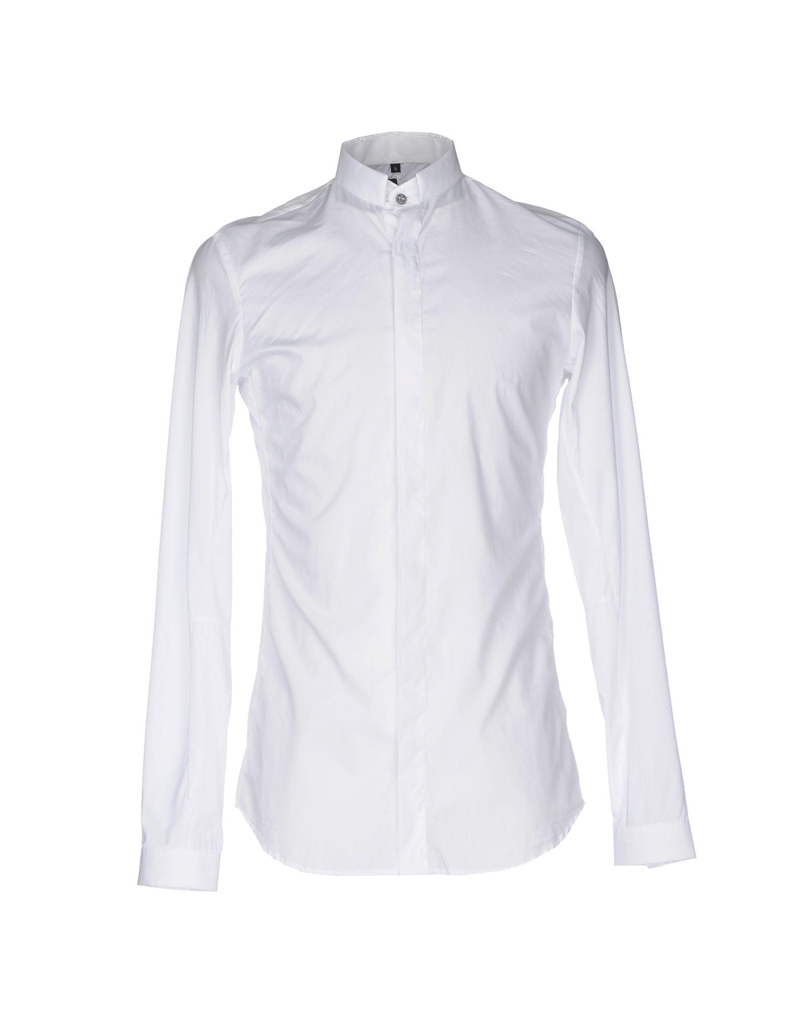 MANUEL MARTE Solid Color Shirt in White