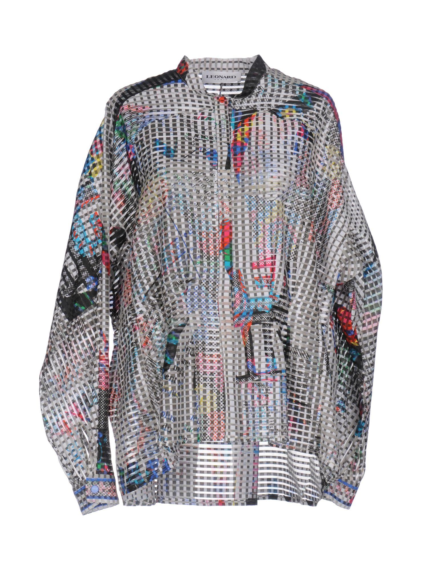 LEONARD Paris Pубашка leonard paris короткое платье