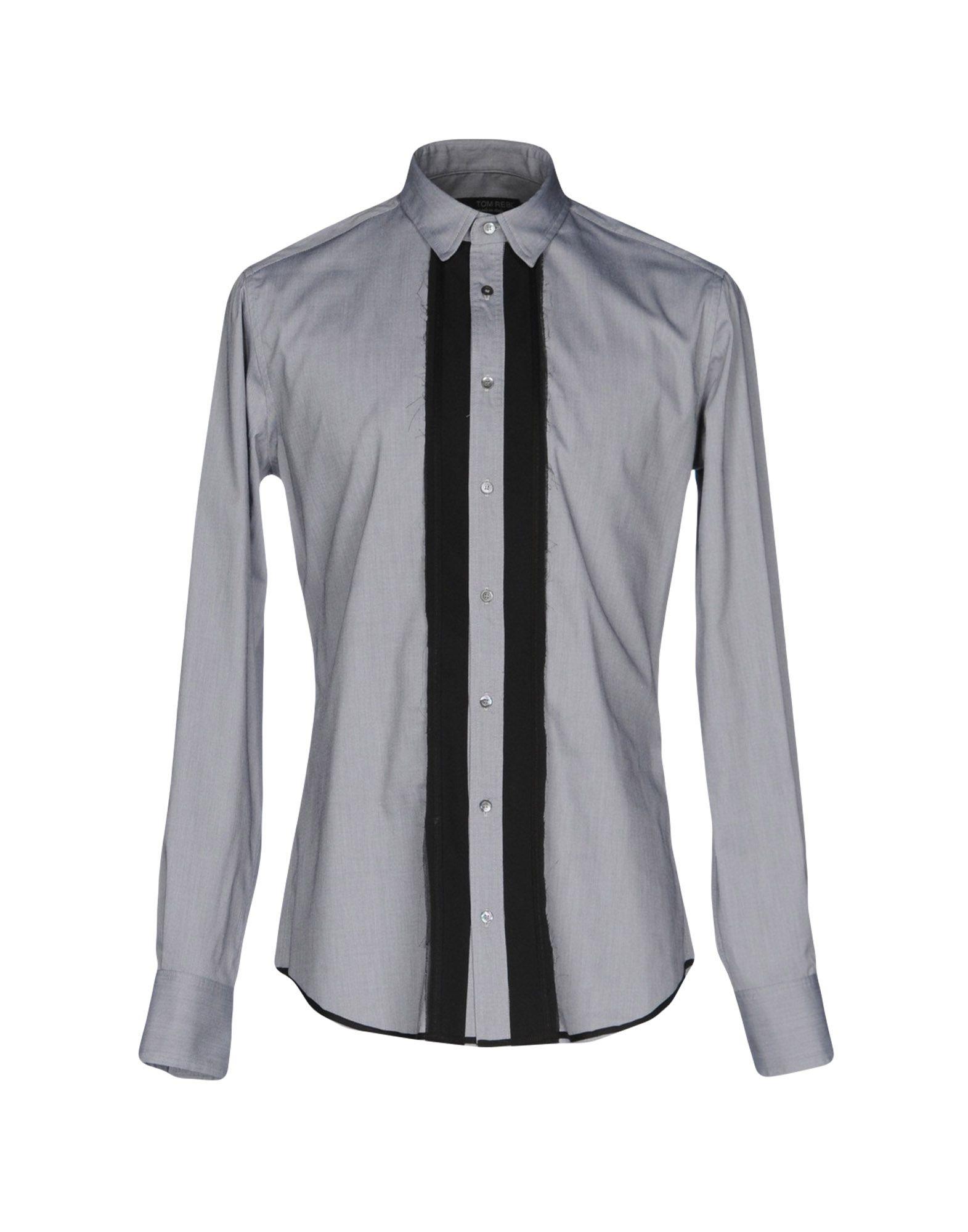 TOM REBL Herren Hemd Farbe Hellgrau Größe 4
