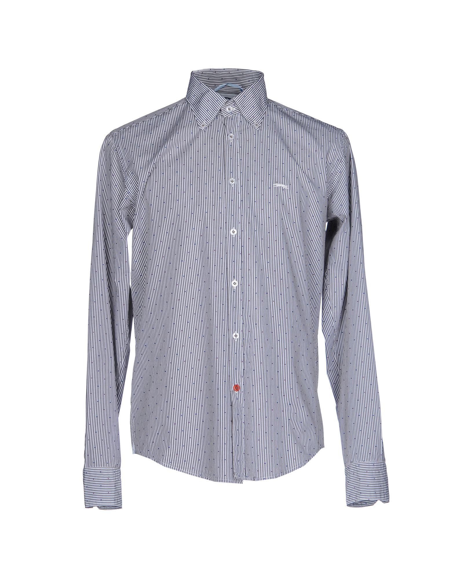 ERA Striped Shirt in Steel Grey