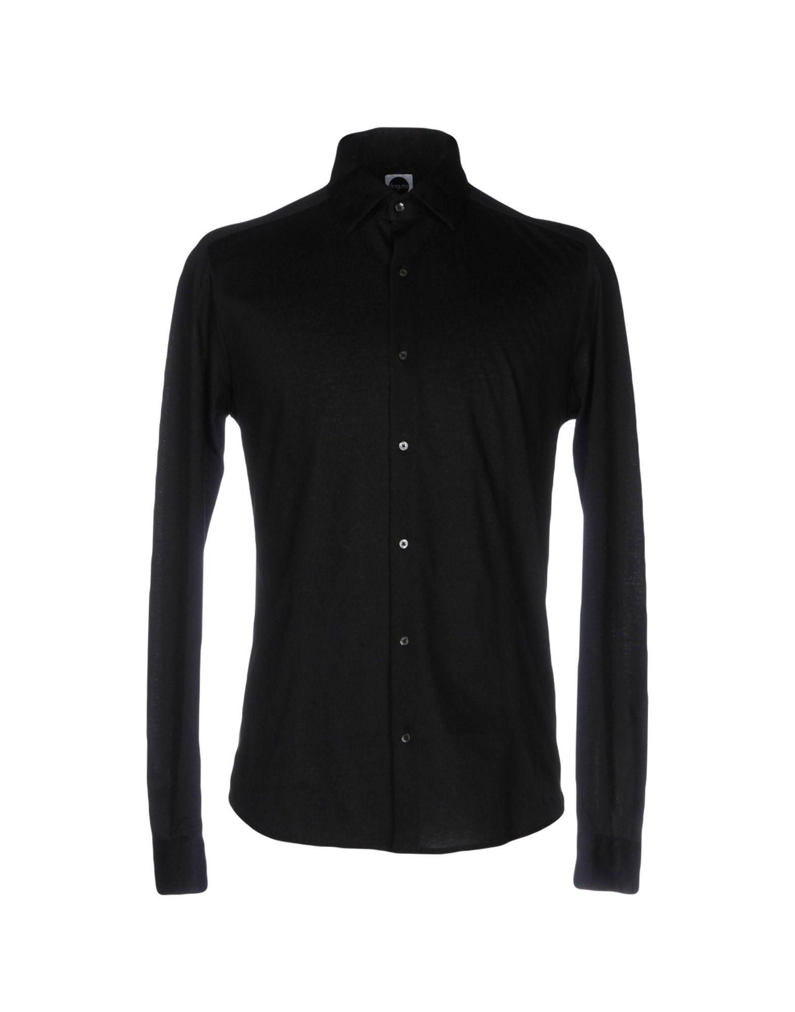 《送料無料》BAGUTTA メンズ シャツ ブラック L コットン 100%