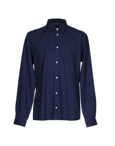 SUIT メンズ シャツ ブルー S コットン 100%