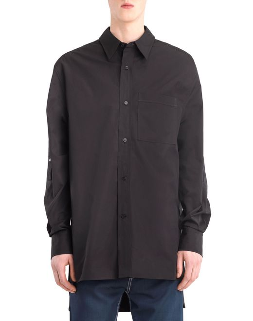 lanvin extra-long shirt men